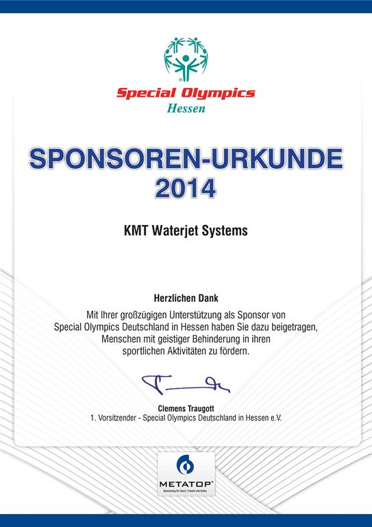KMT-Waterjet-Systems_Special-Olympics_2014